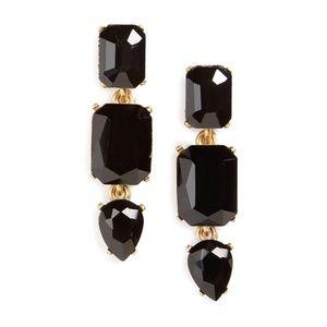 Loren Hope Black Jeweled Drop Earrings